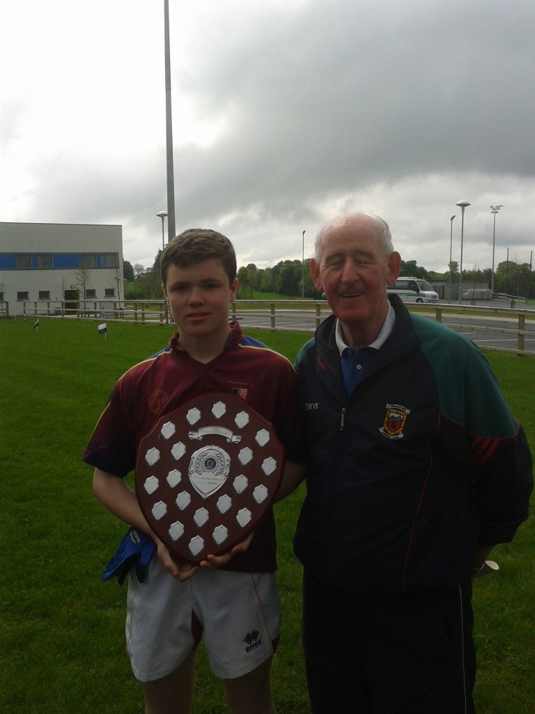 Cillian Cleary, Team Captain with League Trophy