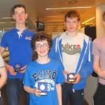 The winning Jes mens junior 18 four (l to r) Donal Coen, Eoghan Walls-Tuite, David Young (cox), Kai McGlacken and Luke Rigney