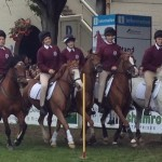 Claire McManus and Isabel Karr  (third and fourth from the left) with Galway mid-county team members at the RDS