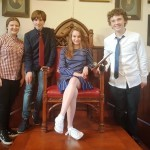 Game of Tones':  Ruby Lynch, Fionn Ryan, Amy O'Gorman and Liam Carton from Coláiste Iognáid at the 2017 ICYD competition in Cambridge