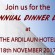 JES ANNUAL DINNER DANCE IS ON THE 18th NOVEMBER